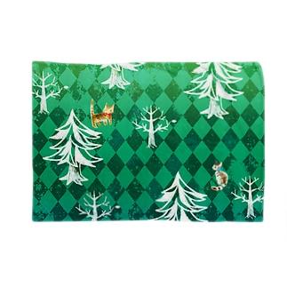 森とねこ Blankets