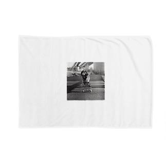 Skating Dog Blankets