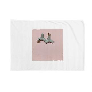 鹿と消波ブロック Blankets