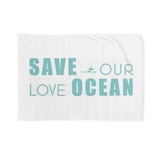 SAVE OUR LOVE OCEAN ブランケット