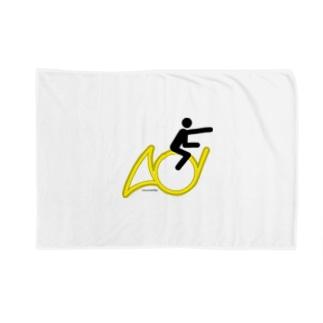 The Flying Hornist w/o Logo Blankets