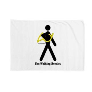 The Walking Hornist w/ Logo Blankets