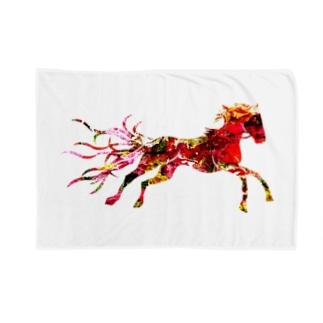 Red Horse ブランケット