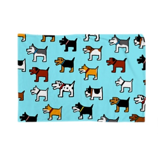 犬連合(水色) Blankets