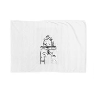 junsen 純仙 じゅんせんのJUNSEN(純仙)学び舎の門 Blankets