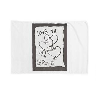 偽諺~壱~「ラヴイズグラインド」(黒縁) Blankets
