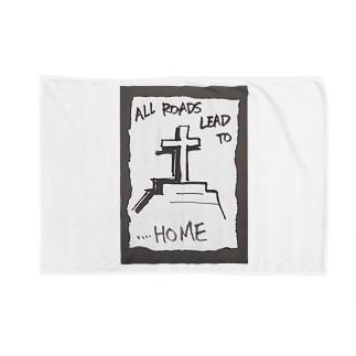 偽諺~弐~「全ての道はホームに通ず」(黒縁) Blankets