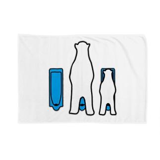 親子トイレ Blankets