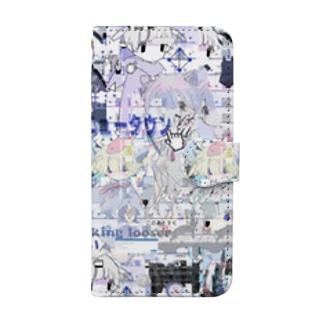 あんしん×リスカちゃん Book style smartphone case