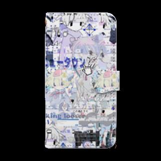 あんしん るるろるのあんしん×リスカちゃん Book style smartphone case