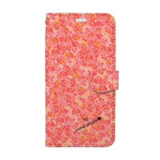 Rose pattern (Sweet) Book-style smartphone case