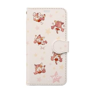 シーニャがいっぱい Book-style smartphone case