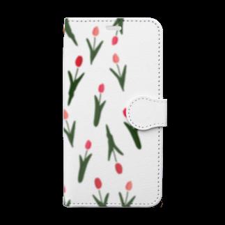 ▷            chiroruの🌷  tulip Book-style smartphone case