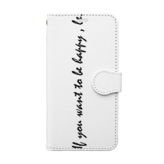 if you want to be happy, be. Book-style smartphone case