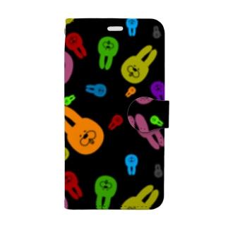 きゃぴっとうさぎさん Book-style smartphone case