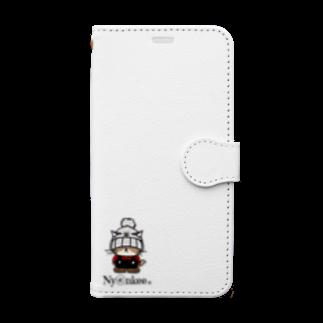 Ny@nkeeのニット帽のあいつ (Ny@nkee) Book-style smartphone case
