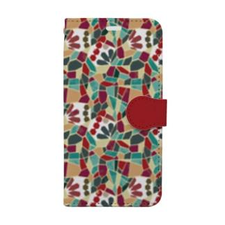 モザイクタイル/ルージュ Book-Style Smartphone Case