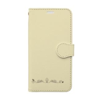 アルファベット イニシャル ボタニカル クリーム Z #205 Book-style smartphone case