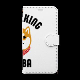 SHIBAINU BROTHERSの柴犬唐草散歩(赤) Book-style smartphone case