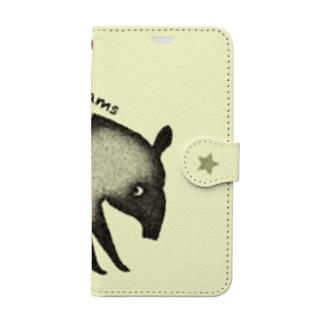 夢喰いバク Book-style smartphone case