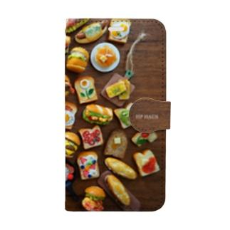 パン集合ランダム Book-style smartphone case