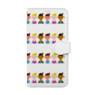 Les filles  少女たち Book-style smartphone case