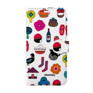 アカズキン手帳型 Book-style smartphone case