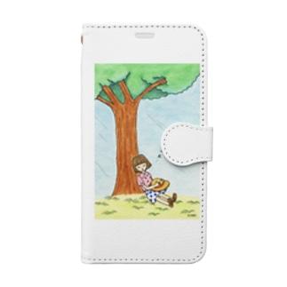 「おひるね」 Book style smartphone case