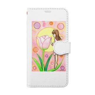 「チューリップの妖精」 Book style smartphone case