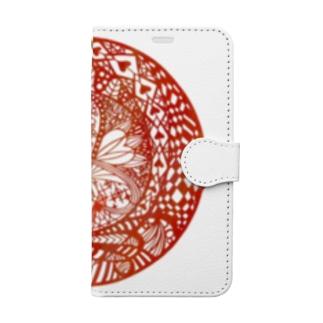 切り絵・ハートの女王 Book-style smartphone case