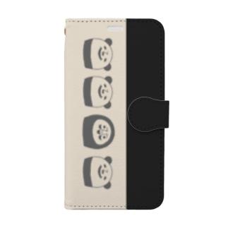 ぱんだるまん XS用 Book-style smartphone case