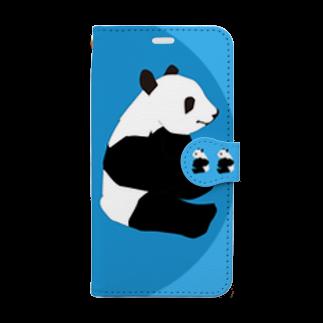 chicodeza by suzuriの可愛いパンダのスマホケース Book-style smartphone case