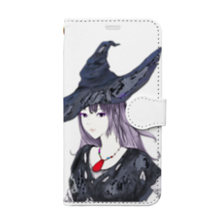 chicodeza by suzuriの魔女のイラスト Book-style smartphone case