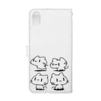どどねこ-ぜんぶ- Book-style smartphone case