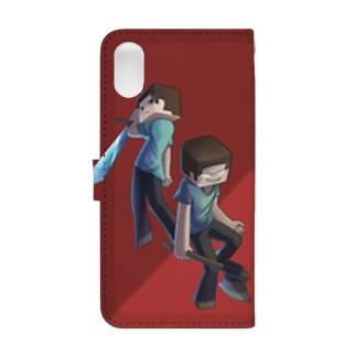 Steve & Herobrine Book-style smartphone case