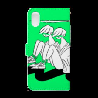 kameのとびねこ Book-style smartphone caseの裏面