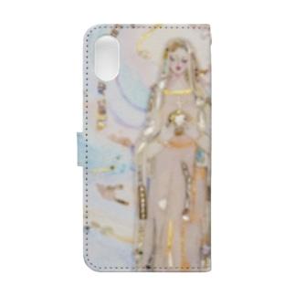 奇跡のメダイユ教会のマリア像 Book-style smartphone case