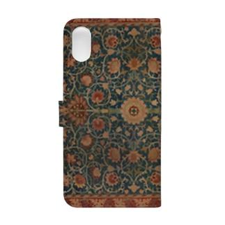 ウィリアム・モリス Holland Park carpet Book-style smartphone case