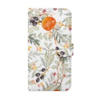 りんごと花 Book-style smartphone case