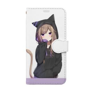 パーカーレオちゃん Book-style smartphone case