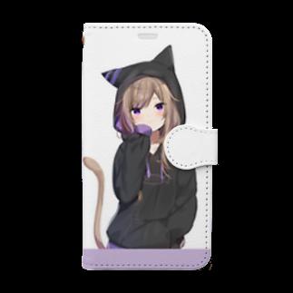 まふゆのパーカーレオちゃん Book-style smartphone case