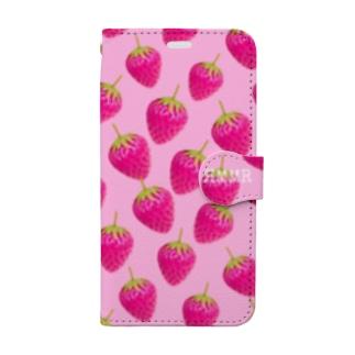 苺づくし🍓 Book-style smartphone case