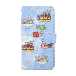 スマホケースブルー Book-style smartphone case