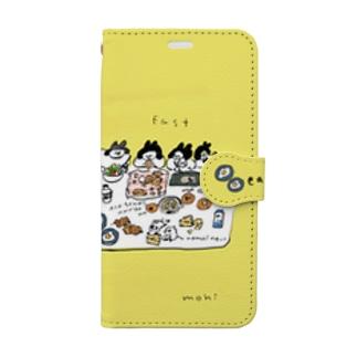 朝ごはん食べよう Book style smartphone case
