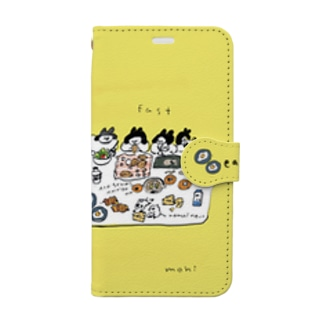 朝ごはん食べよう Book-style smartphone case