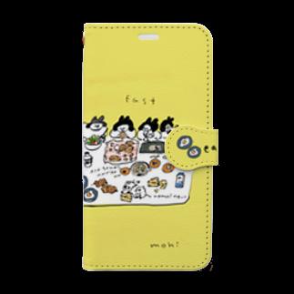 mohiの朝ごはん食べよう Book style smartphone case