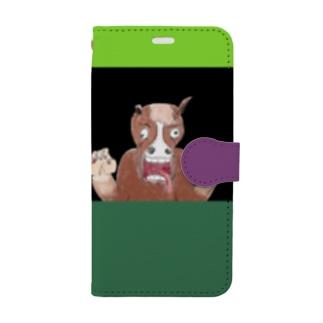 馬と馬 Book-style smartphone case
