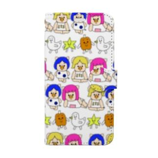 三匹の子むすめと愉快な仲間たち Book-style smartphone case