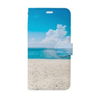 ビーチ Book style smartphone case