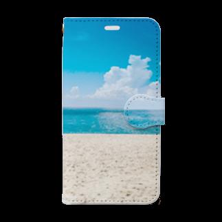 tsuki-hiroのビーチ Book-style smartphone case